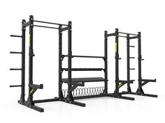 Annex Squat Rack System - Dynamic Fitness Home Gym Design, Home Interior Design, Diy Power Rack, No Equipment Workout, Fitness Equipment, Gym Machines, Racking System, Crossfit, My Gym
