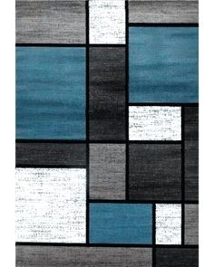 Blue Area Rugs Black And Grey
