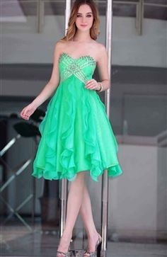 Green Sweetheart Waterfall Cocktail Dress with Sequins Style Code: 09091 $179 Order this dress here: http://www.outerinner.com/green-sweetheart-waterfall-cocktail-dress-with-sequins-pd-09091-8.html #homecoming #homecomingdresses #outerinner