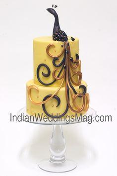 Indian Weddings Inspirations. Peacock Wedding Cake. Repinned by #indianweddingsmag indianweddingsmag.com #studiocake