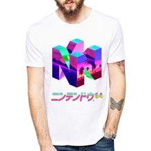 07c51b005d497 geometry Vaporwave T Shirt men Summer fashion High Quality t-shirt casual  white print O-Neck print male men top tees(China)