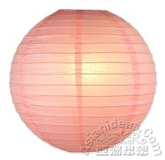 14 Inches Pink Paper Lanterns