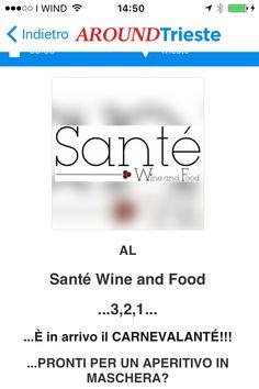 #SANTEWINEANDFOODTRIESTE ..al Santè Wine And Food arriva il CARNEVALANTE'... https://www.facebook.com/SanteWineAndFood/?fref=ts