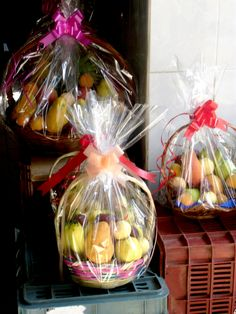 Baskets of fresh fruit, tied with a festive ribbon, are traditional gifts for Mother's Day.