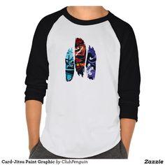 Card-Jitsu Paint Graphic T Shirt. Producto disponible en tienda Zazzle. Vestuario, moda. Product available in Zazzle store. Fashion wardrobe. Regalos, Gifts. #camiseta #tshirt