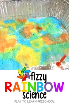 This is an easy science experiment that incorporates so many different learning opportunities for preschoolers. Fine motor practice, exploring chemical reactions, and learning about color theory. This science experiment is great for homeschooling preschoolers, summer science experiments, and providing your preschooler with an engaging activity to keep them busy. #preschoolscience #scienceexperiment Rainbow Activities, Preschool Science Activities, At Home Science Experiments, Preschool Lesson Plans, Preschool Art, Science Ideas, Motor Activities, Classroom Activities, Toddler Activities