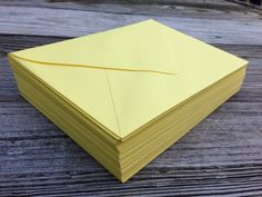 50 A7 5x7 or 4Bar 3.5x5 Envelopes Yellow Sunshine by SEEDInvites