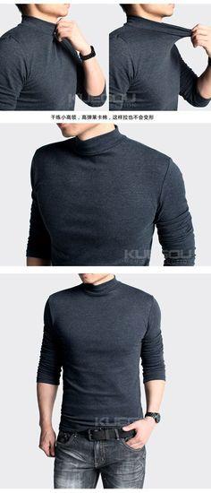 Simple Short Collar Turtleneck