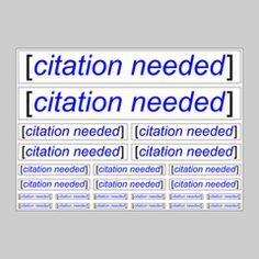 Citation Needed Sticker Pack
