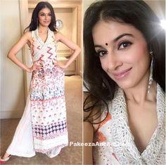 Divya Khosla Kumar in Payal Jain's Sleeveless Long Kurti and Palazzo-PakeezaAnchal.com