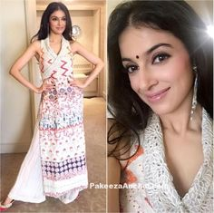 Divya Khosla Kumar in Payal Jain's Sleeveless Long Kurti and Palazzo-PakeezaAnchal.com