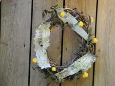 Birch bark wreath by LilyPadsAndSunshine on Etsy