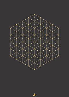 """""""Hexagonal #14"""" Art print"""