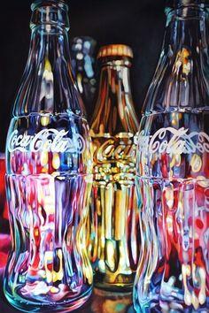 Golden Coke - oil kanvas - Alon Zakaim by Cenika