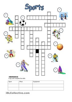 Sports - crossword