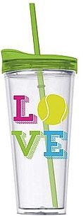 22 oz Tennis Love Double Wall Tumbler with Hot/Cold Lid and Straw Tennis Gear, Tennis Gifts, Tennis Party, Play Tennis, Tennis Ball Crafts, Sharapova Tennis, Maria Sharapova, Locker Signs, Banquet Centerpieces