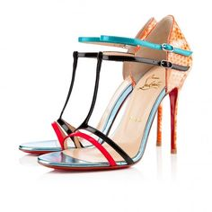 Sandali in color block SS 2013 Christian Louboutin.