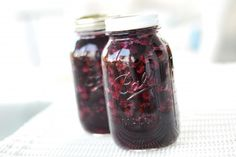 Blueberry Pie Filling in a Jar!  I'm doing this...no seriously, I'm really going to use this one...seriously.