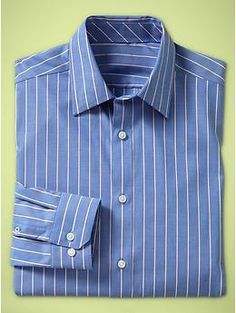 Non-Iron pinstriped shirt (original fit)   Gap