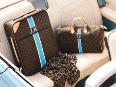 monogrammed luggage.