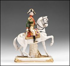 "German Kister, Scheibe Alsbach mounted porcelain soldier ""Bessiers"" Military Figures, Princess Zelda, Disney Princess, Collectible Figurines, Disney Characters, Fictional Characters, Antiques, Glass, Furniture"