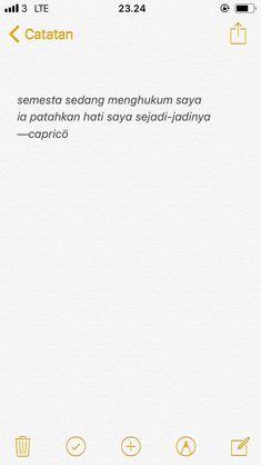 Quotes Lucu, Cinta Quotes, Quotes Galau, Tumblr Quotes, Text Quotes, Mood Quotes, Qoutes, Writing Words, Self Reminder