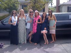 bachelor party in limo