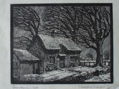 Snowstorm, wood engraving by E. Balfour Browne A seasonal image found at the wonderful Etchings Plus flickr photostream. http://www.flickr.com/photos/etchingsplus/