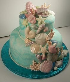 Beautiful seascape cake mermaid cake