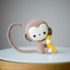 """Check out this adorable little monkey. The pattern is free on the blog: """"All About Ami""""."""