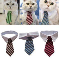 Hundekrawatte-mit-Kragen-Halsband-Katzen-Hunde-Zubehoer-Hundefliege-Party-Dekor