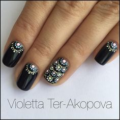 Incredible Black Nail Art Designs for Women and Girls - . Incredible Black Nail Art Designs for Women and Girls - - Dot Nail Art, Black Nail Art, Fall Nail Art, Black Nails, Autumn Nails, Fancy Nails, Trendy Nails, Diy Nails, Cute Nails