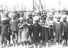 Children awaiting execution by the Einsatzgruppen, somewhere in the East.