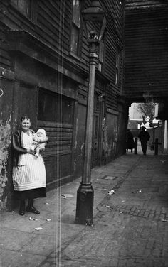 Woman and child outside Crown and Sceptre Pub, High Bridge, Greenwich. Victorian London, Vintage London, Old London, East London, Old Greenwich, Greenwich London, London History, British History, Old Photos