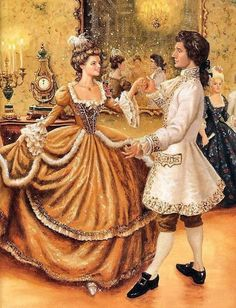 Cinderella at the ball.  I thought the Prince exceptionally handsome.