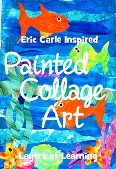 Make this delightful Eric Carle inspired collage art using this fun painted paper process. You will love making this as much as your kids do!
