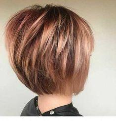 Thin Hair Short Haircuts, Layered Haircuts For Women, Thin Hair Cuts, Bob Hairstyles For Fine Hair, Layered Bob Hairstyles, Short Hair With Layers, Hairstyles Haircuts, Pixie Haircuts, Straight Haircuts