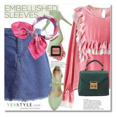 """YesStyle - 10% off coupon"" by svijetlana ❤ liked on Polyvore featuring Elf Sack, Winter, yesstyle and embellishedsleeves"