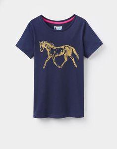 BURGHLEYLadies T-Shirt - http://www.atelierducheval.com/tee-shirt-femmes-burghley-manches-courtes-bleu-marine-tom-joule.html