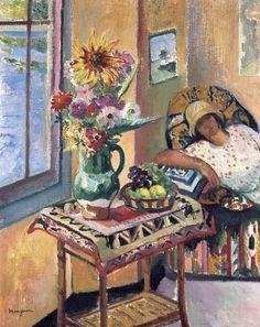 "Henri-Charles Manguin (1874-1949) - ""Interior, Lucile Manguin"" (the artist's…"