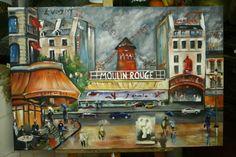 https://flic.kr/p/9gXqRu | www.academiataure.com |  #art #painting #oil #moulin #rouge