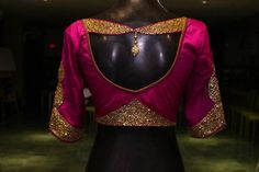 Custom Designer Blouses for women designed with nuances in cuts, embroidery, fine detailing and craftsmanship in Studio 149 by Swathi Purushtham. Choli Designs, Silk Saree Blouse Designs, Stylish Blouse Design, Saree Blouse Patterns, Sari Blouse Designs, Designer Blouse Patterns, Bridal Blouse Designs, Blouse Styles, Dress Designs