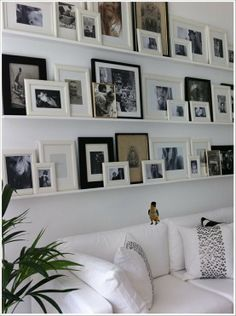 Gallery Wall - easy to change frames and photos without lots of wall holes! - Click image to find more Design Pinterest pins