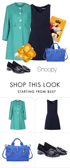 """""""Snoopy"""" by i-teddybear on Polyvore featuring Tagliatore, Carven, Kenzo, Miu Miu and Baccarat"""