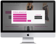 Web design, Glam For Rent