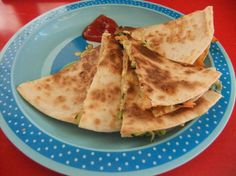 Vegetable and cheese tortilla sandwich - great for toddlers, quick and easy to make.