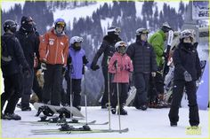 Madonna takes her kids Lourdes, David and Mercy skiing in Gstaad, Switzerland on January 3, 2014