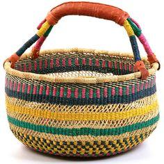 bolga market net weave basket