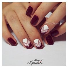 20 Nail Art Designs For Short Nails ❤ liked on Polyvore featuring beauty products, nail care and nail treatments