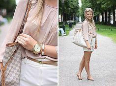Michael Kors Watch, Hermës Bracelet, Louis Vuitton Bag, H Belt